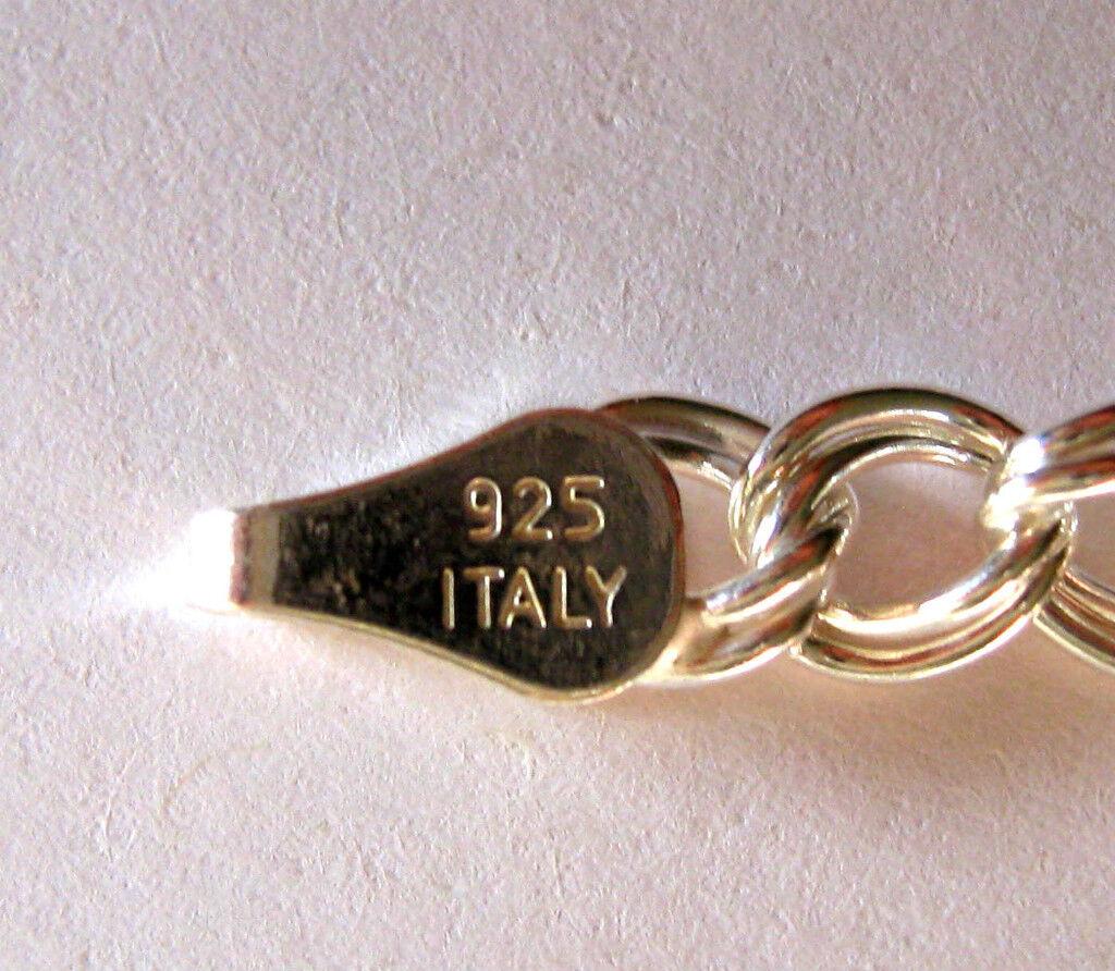 Italiano Italiano Italiano Ciondolo argentoo Sterling Braccialetto a Maglie 20.3cm 512569