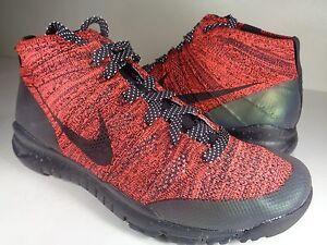 822ece3f9b536 Womens Nike Flyknit Trainer Chukka FSB Crimson Black Sequoia SZ 7.5 ...