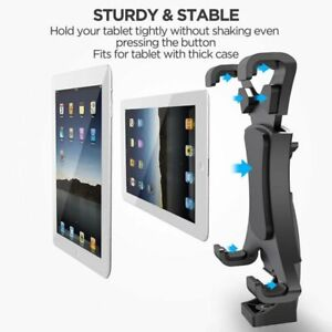"""2 in1 Tripod Mount Adjustable Stand for Phone /Ipad 7-10"""" Monopod Holder Clamp"""