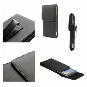 fuer-HTC-Windows-Phone-8S-Guerteltasche-Holster-Etui-Metallclip-Kunstleder-Vert