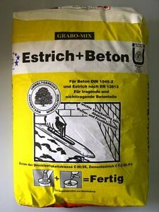 Estrichbeton Estrich Beton Betonmortel 40 Kg Sack Betonestrich Ebay