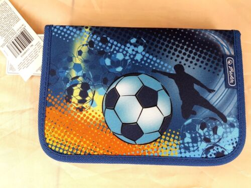 Herlitz Federmappe Schüleretui Etui Fußball gefüllt 18 tlg
