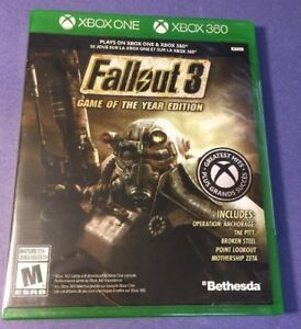 Fallout 3 Game of the Year Edition [ G2 Case ] (XBOX ONE / 360) NEW