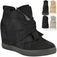 aa395f0918f item 3 Womens Ladies Mid High Heel Wedges Trainers Hi Tops Bow Sneakers  Knot Shoes Size -Womens Ladies Mid High Heel Wedges Trainers Hi Tops Bow  Sneakers ...