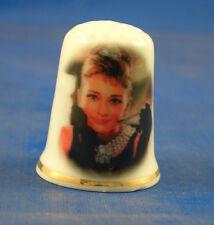 Birchcroft China Thimble -- Film Stars -- Audrey Hepburn --  Free Dome Gift Box
