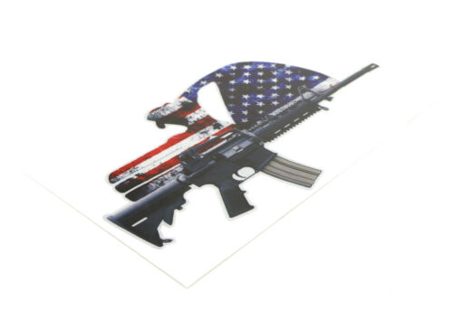 "2x 8/"" US Flag Punish*er Military Skull Head w//AR15 2nd Amendment Decal Stickers"