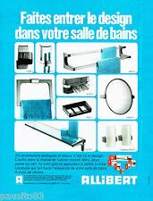 PUBLICITE ADVERTISING 026  1973  Allibert   accessoires salle de bain design