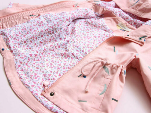 Toddler Kid Baby Girls Hooded Coat Flower Embroidery Outwear Jacket Clothes