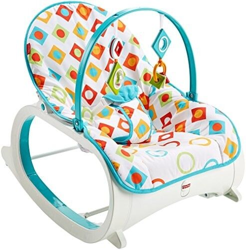 Infant Toddler Rocker Geo Diamonds Colorful Best Bouncer Seat Baby Chair Swing