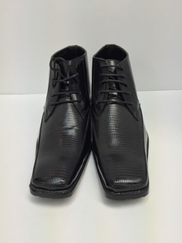 Men/'s Salvanni Black Dress Ankle Boots 6288 with Design US Sizes 7.5-8