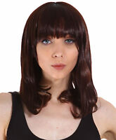 Lovely Womens Brown Curly Wavy Hair Full Wig Cosplay Party Wigs