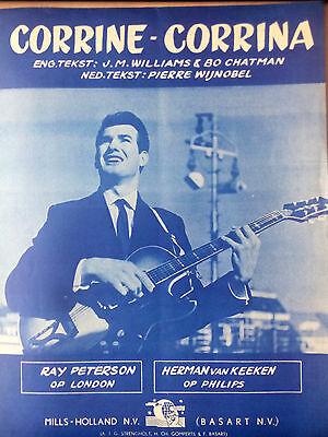 VINTAGE SHEET MUSIC 1961 ~ Corrine - Corrina ~ Ray Peterson ...