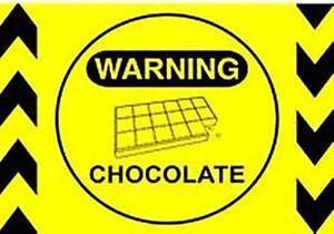 Warning-Chocolate-steel-funny-fridge-magnet-hb