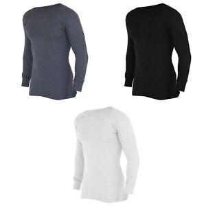 FLOSO-T-shirt-thermique-a-manches-longues-en-viscose-Homme-THERM107