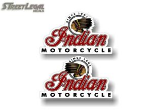 """2-5/"""" Indian /'Since 1901/' Motorcycle Decals for Truck Gas Tank or Trailer Sides"""