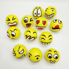 12x YELLOW STRESS BALLS Hand Relief Squeeze Toy Reliever Antistress Soft HE