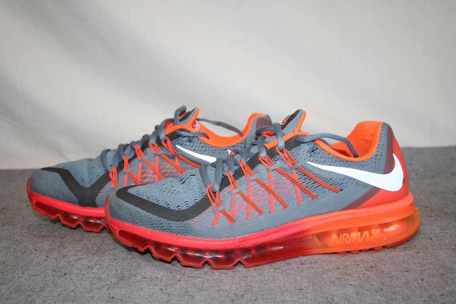 Nike Air Max Running Shoes Gray/White/Orange Men's Comfortable