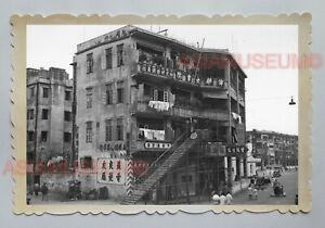 WANCHAI-STREET-SCENE-ROAD-APARTMENT-CAR-B-amp-W-Vintage-Hong-Kong-Photo-04034