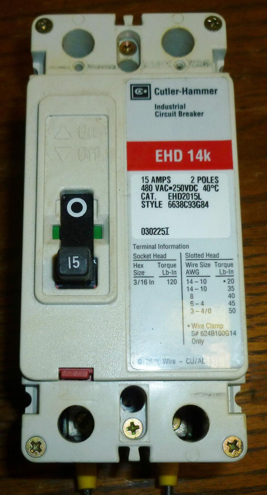 Cutler-Hammer EHD 14k Industrial Circuit Breaker 100amps 3 Poles | eBay