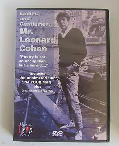 Leonard Cohen Ladies and gentlemen Mr Leonard Cohen DVD Video - Shepton Mallet, United Kingdom - Leonard Cohen Ladies and gentlemen Mr Leonard Cohen DVD Video - Shepton Mallet, United Kingdom