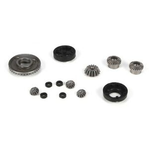 LOSB1923-Team-Losi-Front-Rear-Diff-Gear-Housing-amp-Spacer-Set-Mini-8ight-New