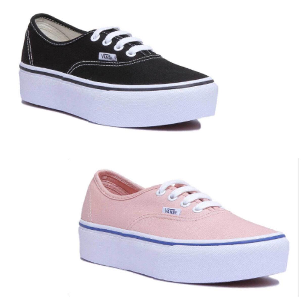 Vans Pink Authentic Platform Women Canvas Pink Vans Trainers 363ca8