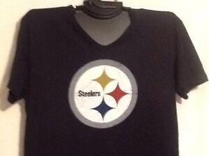 Mens Pittsburgh Steeler T Shirt NFL Team Apparel Black 100% Cotton ... bb12593114164
