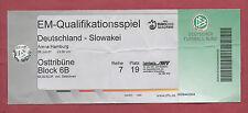 Orig.Ticket   EM Qualifikation  06.06.2007  DEUTSCHLAND - SLOWAKEI  !!  SELTEN