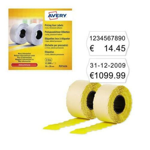 Avery 2-Line Permanent Label 16 x 26mm White Pack of 12000 WP1626 NEW