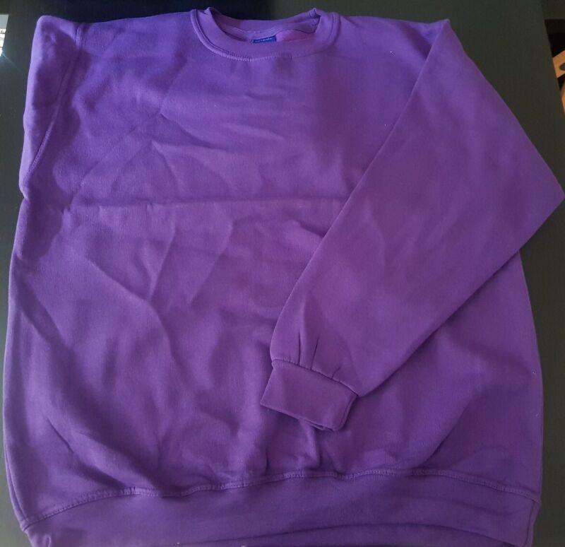 Considerate Purple Plain Unisex Jumper Sweatshirt Size Xl