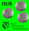 Lot of 3 GM OEM Door Trunk Lock Cylinder Dust Shutter Chrome Strattec 59885