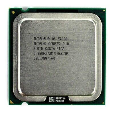 Intel Core 2 DUO E7600 3.06GHz 3MB Cache Socket 775 CPU Processor SLGTD