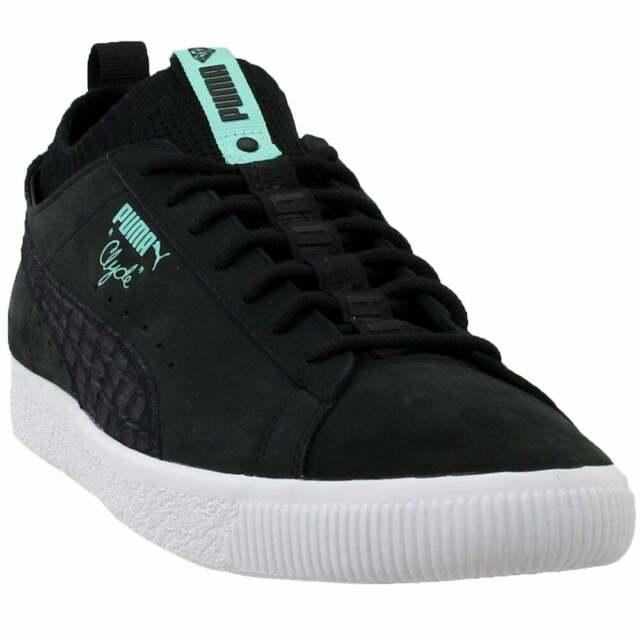Puma Clyde Sock Low Diamond Sneakers Casual Black Mens