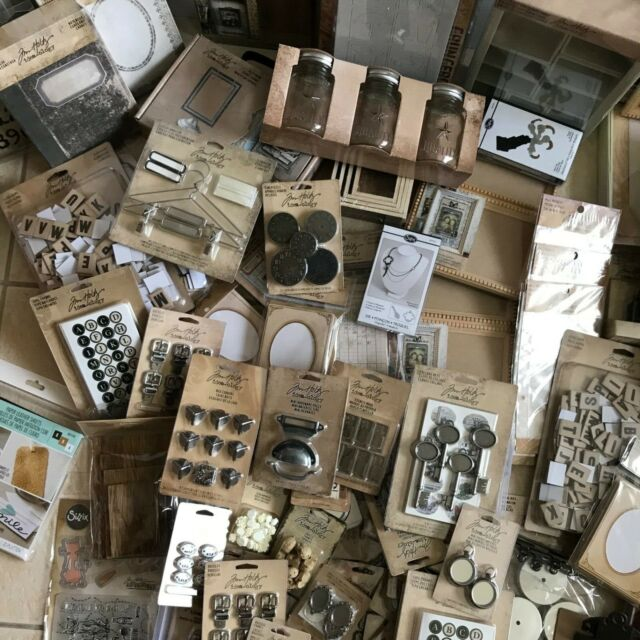 TIM HOLTZ Idea-ology Pieces for Mixed Media Art Paper Crafts Metal Trinkets NEW