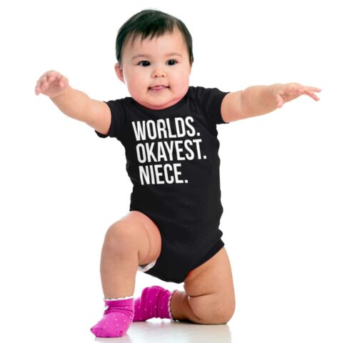Novelty Worlds Okayest Niece Gift for Girl from Aunty /& Uncle Romper Bodysuit