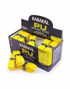 Karakal-PU-Super-Grip-Da-Badminton-Tennis-Racchetta-Da-Squash-Grip-x-24-Giallo