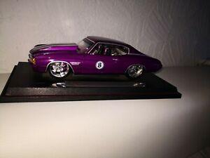 Coche-modelo-maisto-Chevrolet-Chevelle-ss454-pro-Rodz-1971-Lilla-de-coleccion