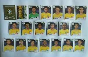 Panini-WM-2018-Brasilien-Brazil-Mannschaft-Team-Complete-Set-World-Cup-WC-18