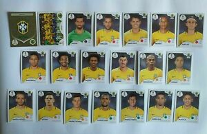 Panini-coupe-du-monde-2018-Bresil-Brazil-equipe-equipe-COMPLETE-SET-WORLD-CUP-WC-18