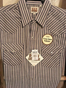 f371857d Image is loading Ely-Cattleman-striped-Western-Shirt-Short-Sleeve-Easy-