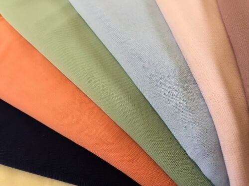 Excellent Quality Soft Handle Drape 100/% Chiffon Sheer Stretch Fabric Material