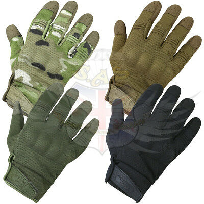 Kombat uk Alpha Tactical Military Airsoft Gloves Black Green BTP