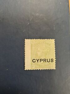 Cyprus-stamps-SG4-4d-Green-plate-16-Wing-margin-cat-140-l46