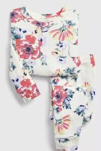 Gap Baby Girl Disney PJ Pajamas Sleep Set Sleepwear White Blue Size 3T 3 Yrs NWT