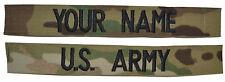 CUSTOM 2 Piece Multicam OCP Scorpion Name Tape Set SEWON - U.S. Army Military