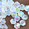 300pcs white ab exquisite Glass Crystal 4mm #5301 Bicone Beads loose beads!