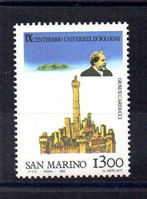 Logisch Repubblica San Marino 1988 Universita' Di Bologna 1300 Lire Unif 1230 Mnh** Briefmarken San Marino