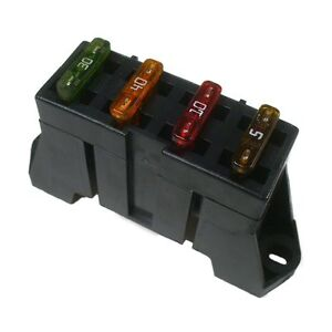 Details about Delphi ATO ATC 4 Way Fuse Block Panel Holder With Terminals on