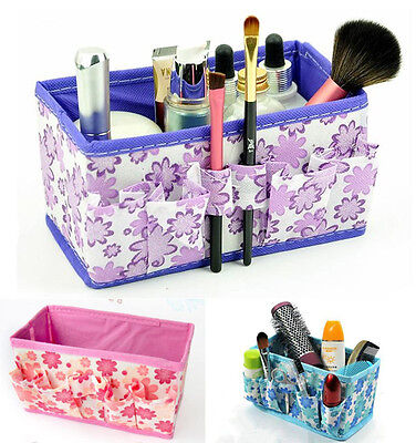 Multifunction Folding Makeup Cosmetic Organizer Storage Box Container Bag Case
