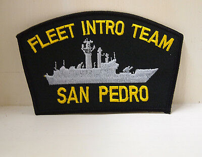 Fleet Intro Team San Pedro Black Patches Patch Ship Boat Military US NAVY USN
